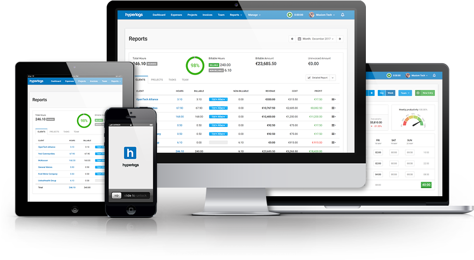 top time tracking software Hyperlogs received 2 awards from FinancesOnline