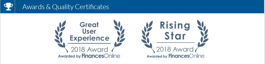hyperlogs garnered 2 prestigious awards from FinancesOnline